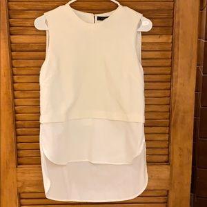 BCBG Maxazria sleeveless white blouse XS